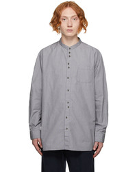 Undercoverism Black White Band Collar Shirt