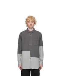 Engineered Garments Grey Brushed Cotton Shirt
