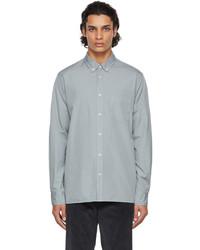 Officine Generale Grey Cotton Arsene Shirt