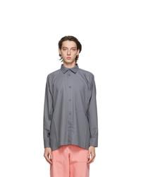 Issey Miyake Men Grey Flat Shirt