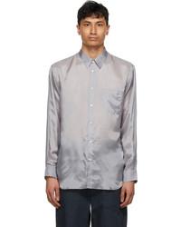 Comme Des Garcons SHIRT Grey Satin Forever Shirt