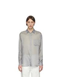 Comme Des Garcons SHIRT Grey Taffeta Shirt