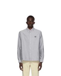 Kenzo Grey Tiger Crest Shirt