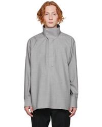 Givenchy Grey Woven Oxford Shirt