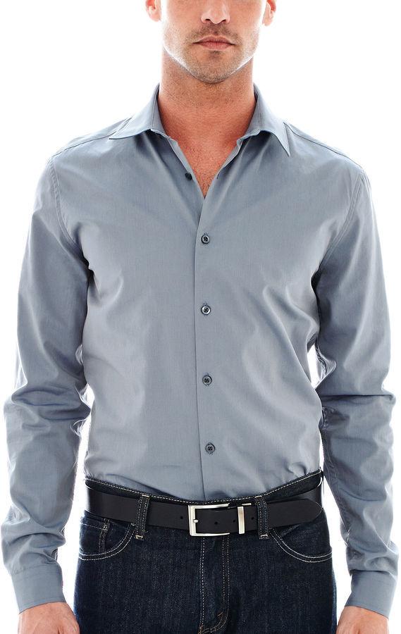 Jcpenney jf jferrar jf j ferrar long sleeve iridescent for J ferrar military shirt