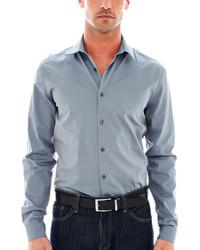 JF J.Ferrar Jf J Ferrar Long Sleeve Iridescent Woven Shirt