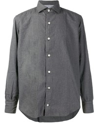 Eleventy Long Sleeve Fitted Shirt
