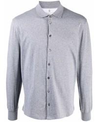 Brunello Cucinelli Long Sleeved Cotton Shirt