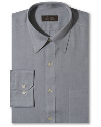 Tasso Elba Non Iron Pinpoint Grey Solid Dress Shirt