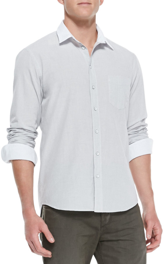 Rag and Bone Rag Bone White Collar Button Down Shirt Dark Gray ...