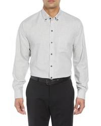 Cutter & Buck Regular Fit Heather Stripe Sport Shirt
