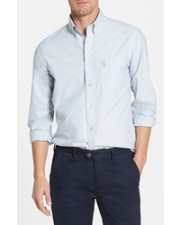 Nordstrom Shop Smartcare Trim Fit Oxford Non Iron Sport Shirt