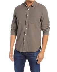 Kato Slim Fit Double Gauze Organic Cotton Button Up Shirt