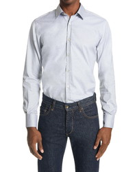Canali Slim Fit Solid Button Up Shirt