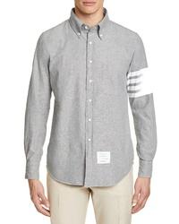 Thom Browne Straight Fit Stripe Chambray Sport Shirt