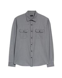 Ermenegildo Zegna Western Snap Front Shirt