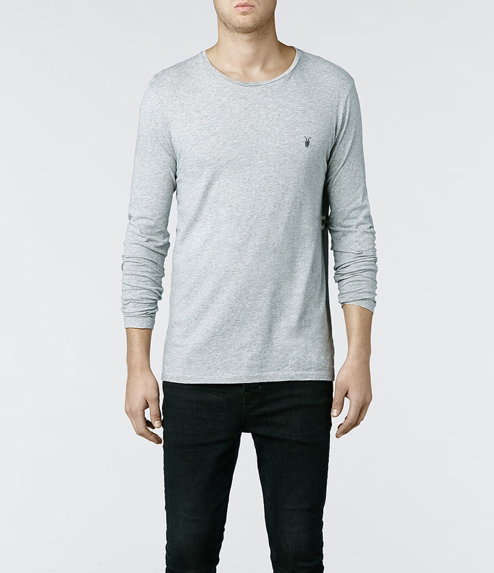 AllSaints Tonic Long Sleeved Crew T Shirt | Where to buy & how to wear