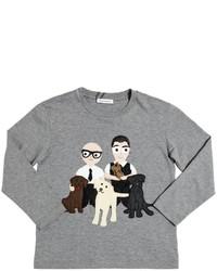 Dolce & Gabbana Family Cotton Long Sleeve T Shirt
