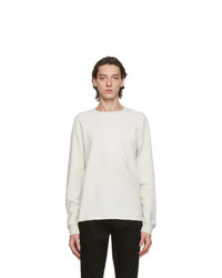 Frame Grey Crew Long Sleeve T Shirt