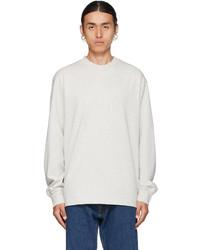 Han Kjobenhavn Grey Distressed Long Sleeve T Shirt