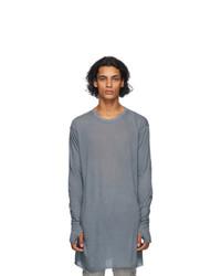 Boris Bidjan Saberi Grey Glove Long Sleeve T Shirt