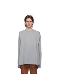 Vetements Grey Gothic Font Long Sleeve T Shirt