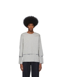 Comme Des Garcons SHIRT Grey Layered Long Sleeve T Shirt