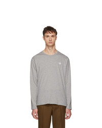 Acne Studios Grey Long Sleeve Nash Face T Shirt