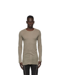 Rick Owens Grey Long Sleeve T Shirt
