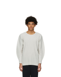 Homme Plissé Issey Miyake Grey Monthly Colors January Long Sleeve T Shirt