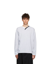 Y/Project Grey Multi Collar T Shirt