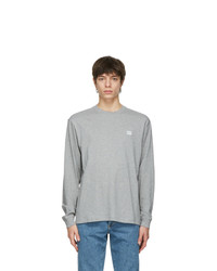 Acne Studios Grey Nash Patch Long Sleeve T Shirt
