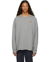 Kenzo Grey Oversized Tiger Crest Sweatshirt