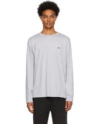 Lacoste Grey Pima Cotton Long Sleeve T Shirt