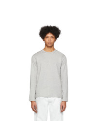Comme Des Garcons SHIRT Grey Plain Long Sleeve T Shirt