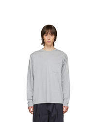 Beams Plus Grey Pocket Long Sleeve T Shirt