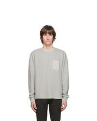 Frame Grey Pocket Long Sleeve T Shirt