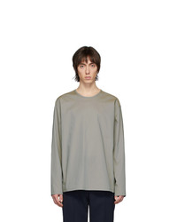 Lemaire Grey Poplin Long Sleeve T Shirt