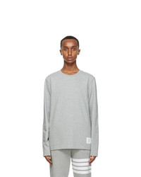 Thom Browne Grey Relaxed Fit Long Sleeve T Shirt