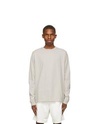 John Elliott Grey University Long Sleeve T Shirt