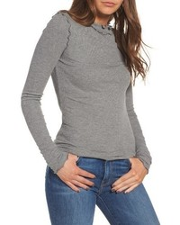 Long sleeve ruffle tee medium 4977152