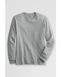 Lands' End Long Sleeve Super T Blue Cameo