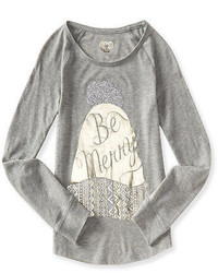 Ps From Ropostale Ropostale Kids Ps Girls Long Sleeve Activate Be Merry Tee Shirt