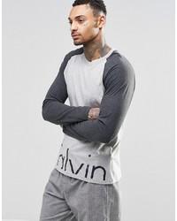 Calvin Klein T Shirt Long Sleeve Comfort Cotton In Slim Fit