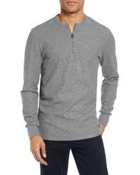 BOSS Textor Quarter Zip Thermal T Shirt