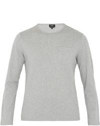 A.P.C. Timmy Long Sleeved Cotton Jersey T Shirt