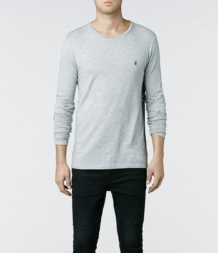 ... AllSaints Tonic Long Sleeved Crew T Shirt ... e178e16a473