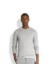 Vince Fine Cashmere Tee Grey