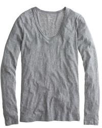 Vintage cotton long sleeve scoopneck t shirt medium 522102