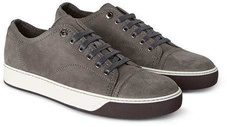 f1eccf9a24e9 ... Lanvin Cap Toe Nubuck Sneakers ...